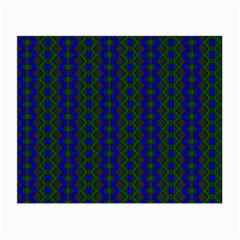 Split Diamond Blue Green Woven Fabric Small Glasses Cloth by AnjaniArt