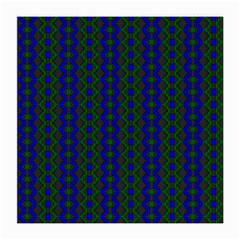 Split Diamond Blue Green Woven Fabric Medium Glasses Cloth (2 Side) by AnjaniArt