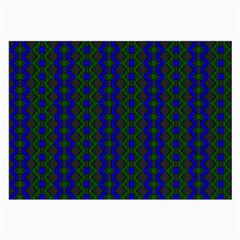 Split Diamond Blue Green Woven Fabric Large Glasses Cloth (2 Side) by AnjaniArt