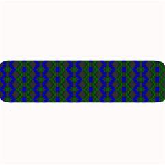 Split Diamond Blue Green Woven Fabric Large Bar Mats by AnjaniArt