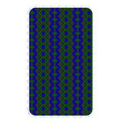 Split Diamond Blue Green Woven Fabric Memory Card Reader by AnjaniArt