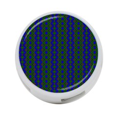 Split Diamond Blue Green Woven Fabric 4 Port Usb Hub (two Sides)  by AnjaniArt