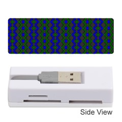 Split Diamond Blue Green Woven Fabric Memory Card Reader (stick)  by AnjaniArt