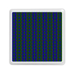 Split Diamond Blue Green Woven Fabric Memory Card Reader (square)  by AnjaniArt