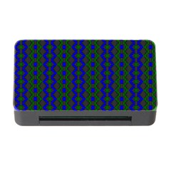Split Diamond Blue Green Woven Fabric Memory Card Reader With Cf by AnjaniArt