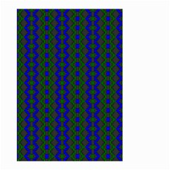 Split Diamond Blue Green Woven Fabric Small Garden Flag (two Sides) by AnjaniArt
