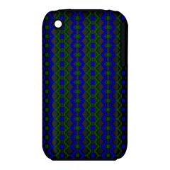 Split Diamond Blue Green Woven Fabric Iphone 3s/3gs by AnjaniArt