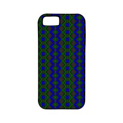 Split Diamond Blue Green Woven Fabric Apple Iphone 5 Classic Hardshell Case (pc+silicone) by AnjaniArt