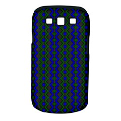 Split Diamond Blue Green Woven Fabric Samsung Galaxy S Iii Classic Hardshell Case (pc+silicone) by AnjaniArt