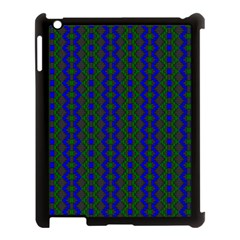 Split Diamond Blue Green Woven Fabric Apple Ipad 3/4 Case (black) by AnjaniArt