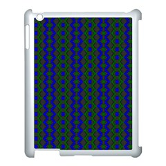 Split Diamond Blue Green Woven Fabric Apple Ipad 3/4 Case (white) by AnjaniArt