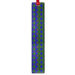 Split Diamond Blue Green Woven Fabric Large Book Marks by AnjaniArt
