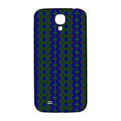 Split Diamond Blue Green Woven Fabric Samsung Galaxy S4 I9500/i9505  Hardshell Back Case by AnjaniArt