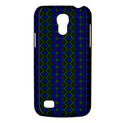 Split Diamond Blue Green Woven Fabric Galaxy S4 Mini by AnjaniArt