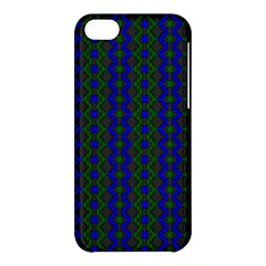 Split Diamond Blue Green Woven Fabric Apple Iphone 5c Hardshell Case by AnjaniArt