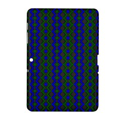 Split Diamond Blue Green Woven Fabric Samsung Galaxy Tab 2 (10 1 ) P5100 Hardshell Case  by AnjaniArt