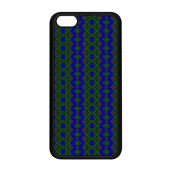 Split Diamond Blue Green Woven Fabric Apple Iphone 5c Seamless Case (black) by AnjaniArt
