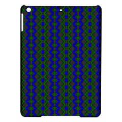 Split Diamond Blue Green Woven Fabric Ipad Air Hardshell Cases by AnjaniArt