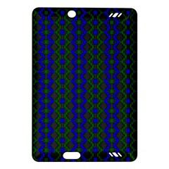 Split Diamond Blue Green Woven Fabric Amazon Kindle Fire Hd (2013) Hardshell Case by AnjaniArt