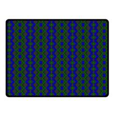 Split Diamond Blue Green Woven Fabric Double Sided Fleece Blanket (small)  by AnjaniArt