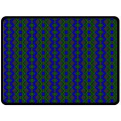 Split Diamond Blue Green Woven Fabric Double Sided Fleece Blanket (large)  by AnjaniArt