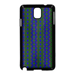 Split Diamond Blue Green Woven Fabric Samsung Galaxy Note 3 Neo Hardshell Case (black) by AnjaniArt