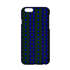 Split Diamond Blue Green Woven Fabric Apple Iphone 6/6s Hardshell Case by AnjaniArt