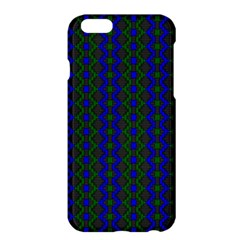 Split Diamond Blue Green Woven Fabric Apple Iphone 6 Plus/6s Plus Hardshell Case by AnjaniArt