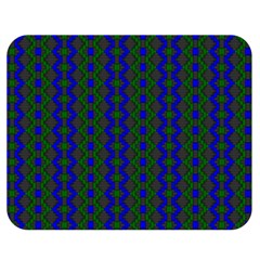 Split Diamond Blue Green Woven Fabric Double Sided Flano Blanket (medium)  by AnjaniArt