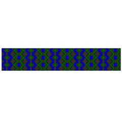 Split Diamond Blue Green Woven Fabric Flano Scarf (large) by AnjaniArt