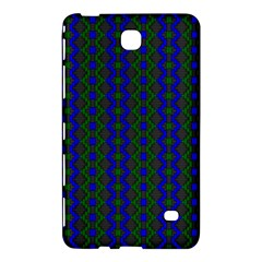 Split Diamond Blue Green Woven Fabric Samsung Galaxy Tab 4 (7 ) Hardshell Case  by AnjaniArt