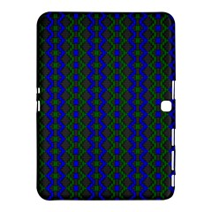 Split Diamond Blue Green Woven Fabric Samsung Galaxy Tab 4 (10 1 ) Hardshell Case  by AnjaniArt