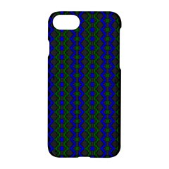 Split Diamond Blue Green Woven Fabric Apple Iphone 7 Hardshell Case by AnjaniArt