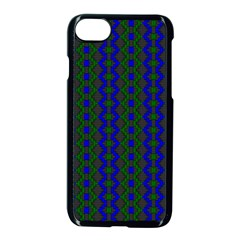 Split Diamond Blue Green Woven Fabric Apple Iphone 7 Seamless Case (black) by AnjaniArt