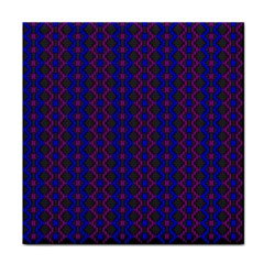Split Diamond Blue Purple Woven Fabric Tile Coasters by AnjaniArt