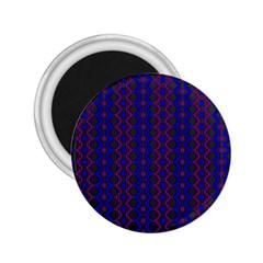 Split Diamond Blue Purple Woven Fabric 2 25  Magnets by AnjaniArt