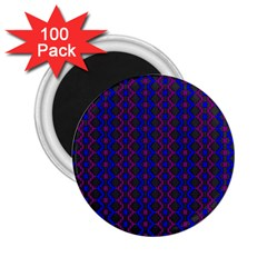 Split Diamond Blue Purple Woven Fabric 2 25  Magnets (100 Pack)  by AnjaniArt