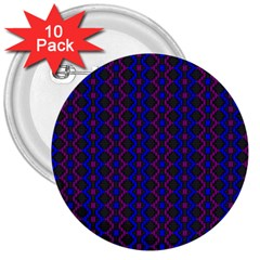Split Diamond Blue Purple Woven Fabric 3  Buttons (10 Pack)  by AnjaniArt