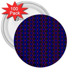 Split Diamond Blue Purple Woven Fabric 3  Buttons (100 Pack)  by AnjaniArt