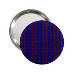 Split Diamond Blue Purple Woven Fabric 2 25  Handbag Mirrors by AnjaniArt