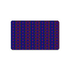 Split Diamond Blue Purple Woven Fabric Magnet (name Card) by AnjaniArt