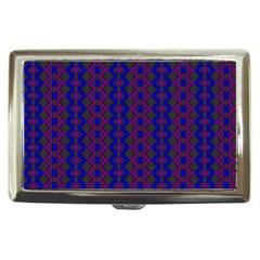 Split Diamond Blue Purple Woven Fabric Cigarette Money Cases by AnjaniArt