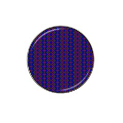 Split Diamond Blue Purple Woven Fabric Hat Clip Ball Marker (10 Pack) by AnjaniArt