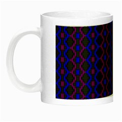 Split Diamond Blue Purple Woven Fabric Night Luminous Mugs by AnjaniArt