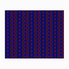 Split Diamond Blue Purple Woven Fabric Small Glasses Cloth (2 Side) by AnjaniArt