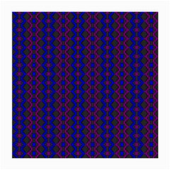 Split Diamond Blue Purple Woven Fabric Medium Glasses Cloth (2 Side) by AnjaniArt