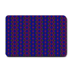 Split Diamond Blue Purple Woven Fabric Small Doormat  by AnjaniArt