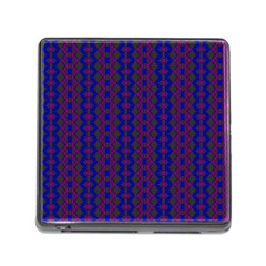 Split Diamond Blue Purple Woven Fabric Memory Card Reader (square) by AnjaniArt