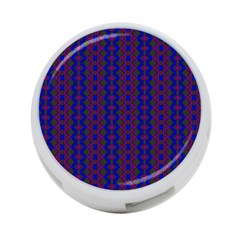 Split Diamond Blue Purple Woven Fabric 4 Port Usb Hub (one Side) by AnjaniArt
