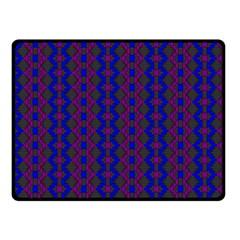 Split Diamond Blue Purple Woven Fabric Fleece Blanket (small) by AnjaniArt